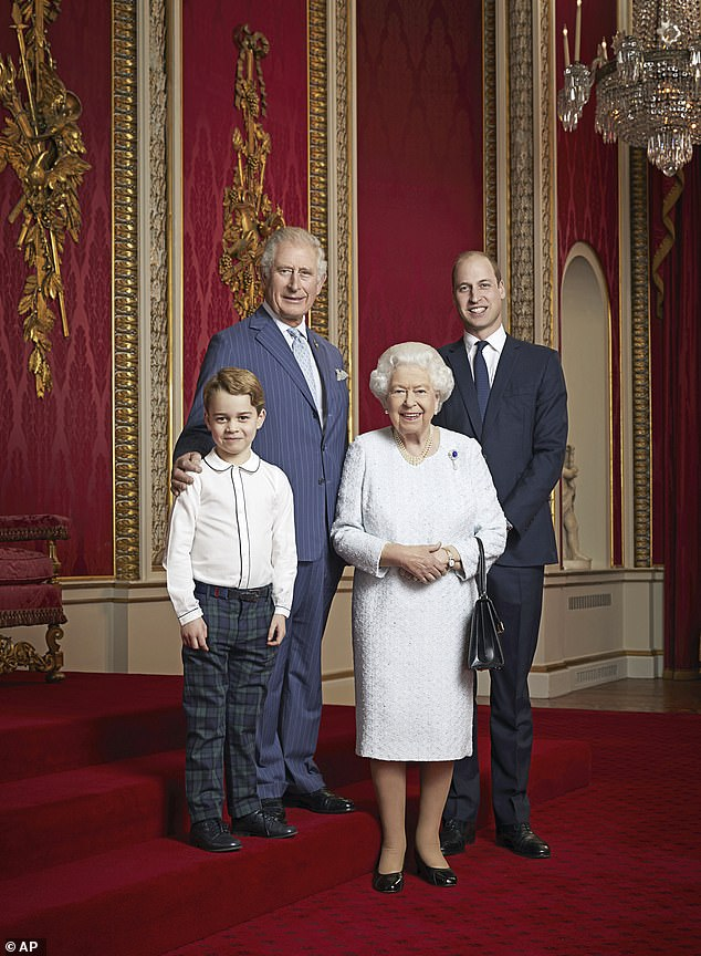 Prince Charles has passed on his desire to make a difference to his son William, who in turn is instilling the value in his son Prince George (pictured with the Queen)