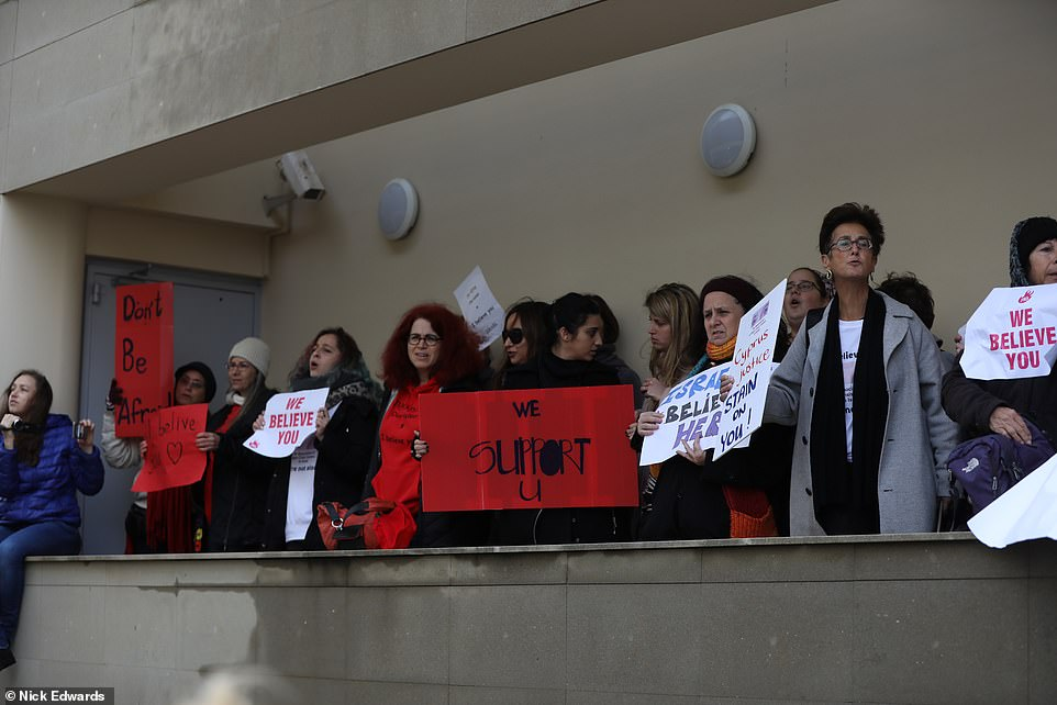 Large numbers of people were at court to support her today in a case that has appalled by what has happened