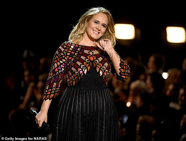 Diet plan? The instructor has claimed the superstar's new look is mostly down to her own dietary determination because she 'doesn't like exercise' (Adele is pictured in 2017)