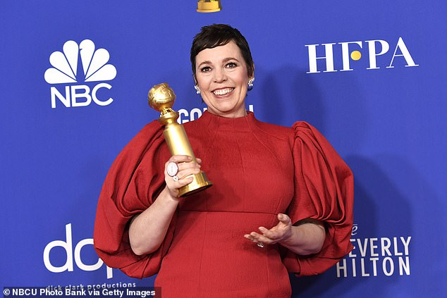 Puffball sleeves on the red carpet: which sartorial sadist dreamt that one up? You could barely move at the Golden Globes for the damn things. Pictured: Olivia Coleman