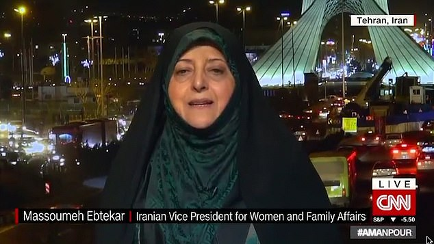 Ebtekar, the current Vice President of Iran for Women and Family Affairs, said that the outrage at his death was not just limited to Iran and claimed that many countries including across Europe and the US, understand the 'terrible actions of the American government'