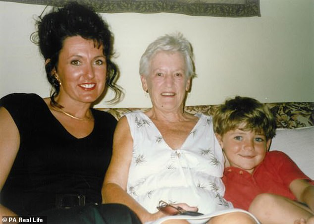 Stephanie believes being a successful entrepreneur was always her destiny after a very different start in life growing up on a farm (seen with her mother centre and son right)