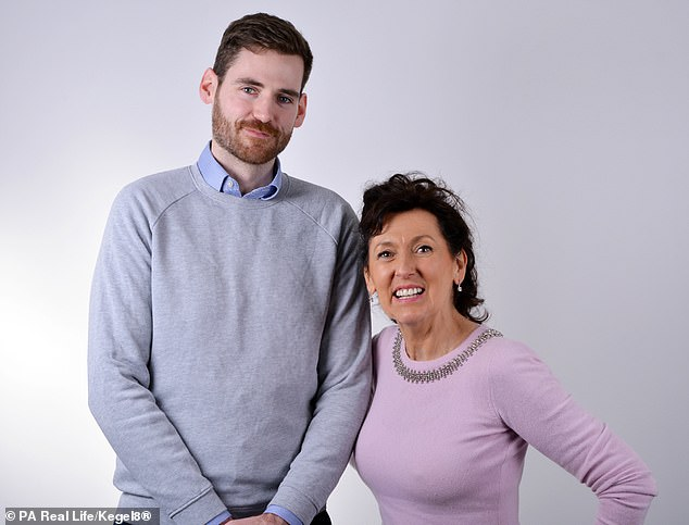 The business is such a resounding success that Stephanie now employs 40 people, including her son (seen above now) who heads up the IT department, and ships her devices across the world - hoping to crack Australia, New Zealand and the USA in 2020