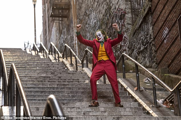 Recognizable: Tourists have flooded a staircase connecting two avenues in the Bronx since Joaquin Phoenix's character in Joker danced down them