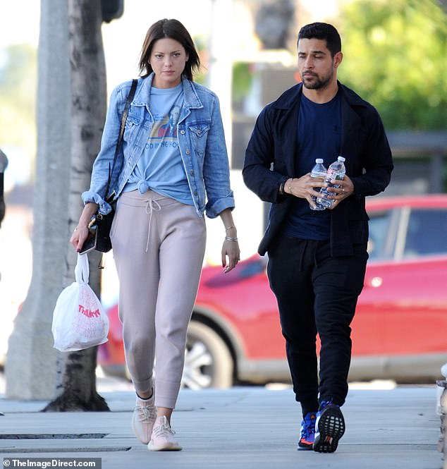 Engaged duo! Wilmer Valderrama and his fiancee were spotted for the first time since their engagement on Monday in Encino, CA - a neighborhood of Los Angeles