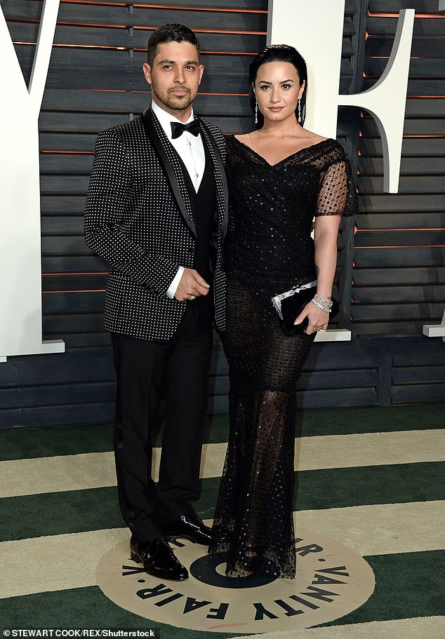 Throwback: Wilmer was previously linked to Mandy Moore, Demi Lovato and Lindsay Lohan; he was in a relationship with Demi for six years before they split in 2016; pictured February 28, 2016 at the Vanity Fair Oscar party in Los Angeles
