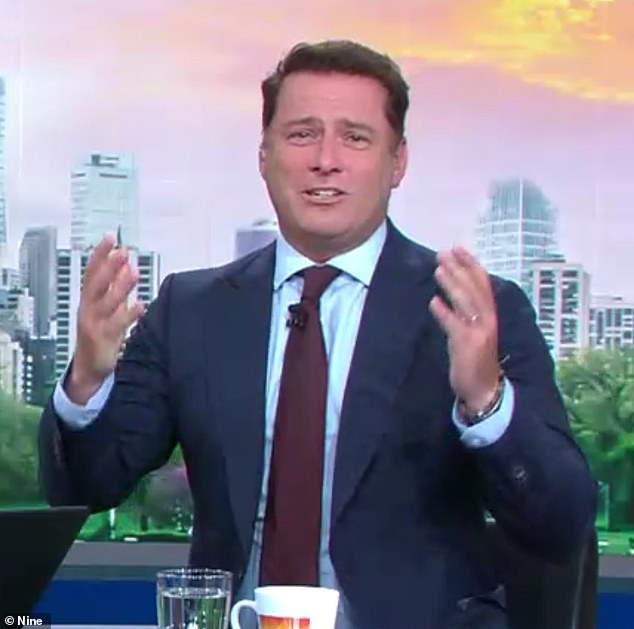 Fiery: Karl Stefanovic (pictured) slammed the idea that Prince Harry and Meghan Markle can escape the spotlight by moving to Canada during a heated debate on Thursday's Today