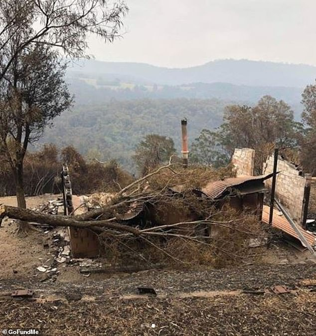 The family's home and everything inside it was completely destroyed when bushfires ravaged the town
