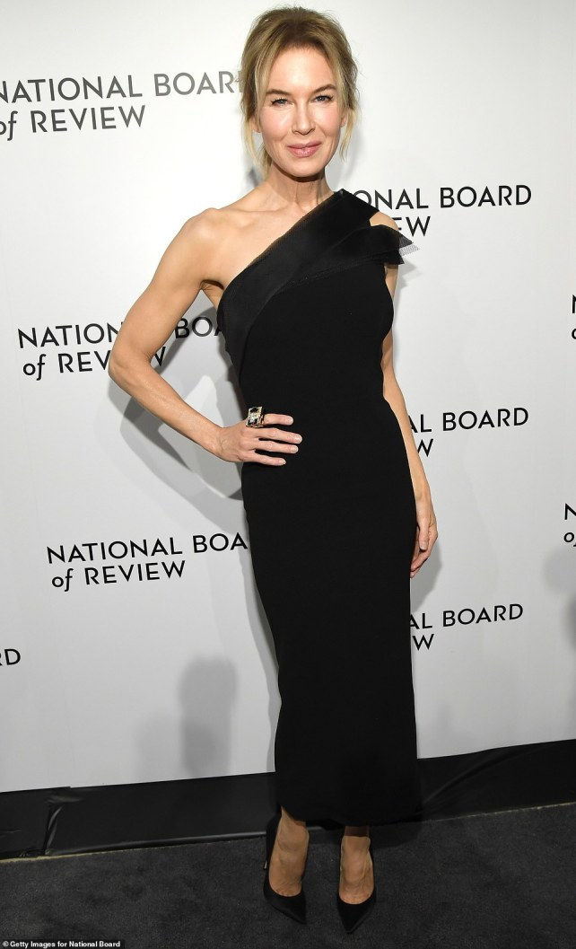 She's a star: Renée Zellweger was honored for the titular role in Judy Wednesday at the National Board of Review Awards Gala