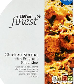 Tesco's Chicken Korma has41.7% of an adult's salt intake