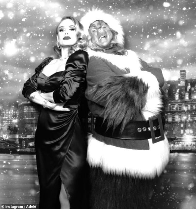 Stunned: Adele left fans shocked during the holiday season when she revealed her incredible weight loss during a Christmas party (pictured)