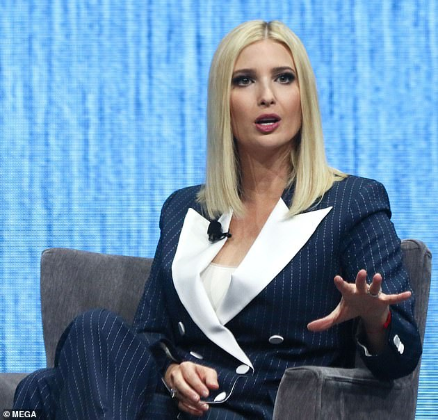 Taking the stage: The first daughter spoke at the Consumer Electronics Show in Las Vegas on Tuesday after facing backlash over being named a keynote