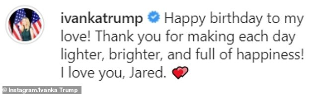 Sweet message: In her post, she wished her 'love' happy birthday and thanked him 'for making each day lighter, brighter, and full of happiness'