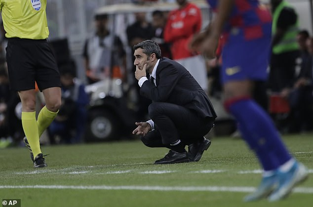 Pressure is growing on manager Ernesto Valverde with a myriad of names linked to the post