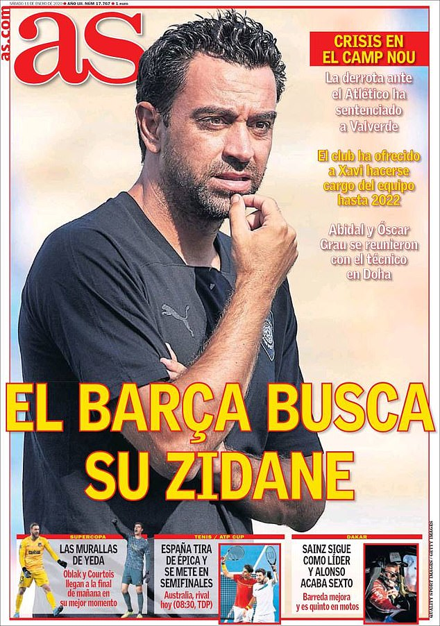 The Spanish publication AS reports that Barcelona are looking to make Xavi their new boss