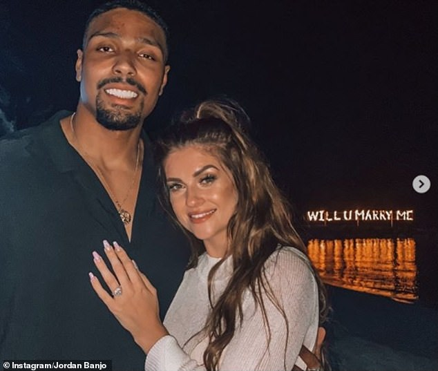 Exciting: Jordan Banjo has revealed that he is planning his wedding to fiancée Naomi Courts for next summer