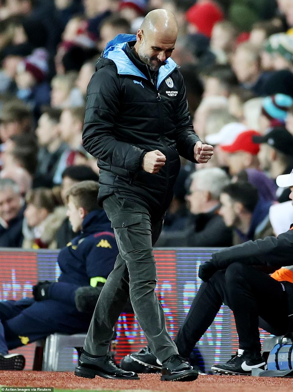 Pep Guardiola was delighted to see his Sky Blues team kick into high gear and put on an impressive showing at Villa Park