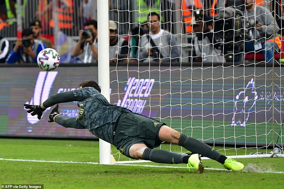 Thibaut Courtois was the Real Madrid man of the moment, making important stops, as well as saving the penalty