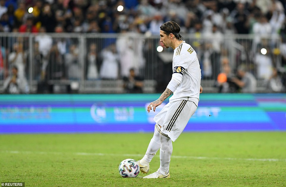 Sergio Ramos calmly increases the winning penalty after the teams have been tied after 90 minutes and extra time