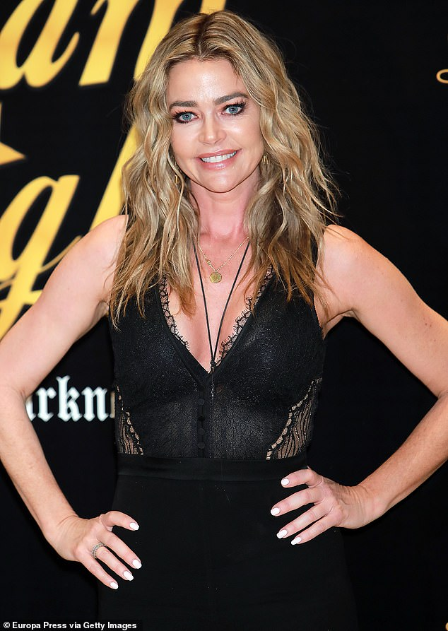 Sad news: Denise Richards took to Instagram Sunday to mourn the loss of her dog Louie in a heartfelt post after returning home from Spain