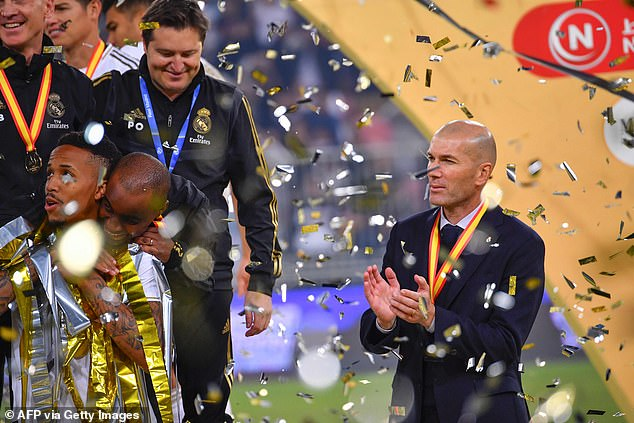 Zinedine Zidane lifted his ninth trophy from as many finals as Real Madrid manager on Sunday