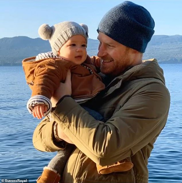 The Duke of Sussex released this photograph of him with baby Archie on New Year's Eve in Canada. Harry has recently been in Edinburgh without his son