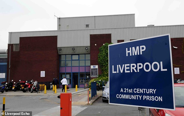 A report in 2017 showed that HMP Liverpool (above) was in poor condition and needed to be improved