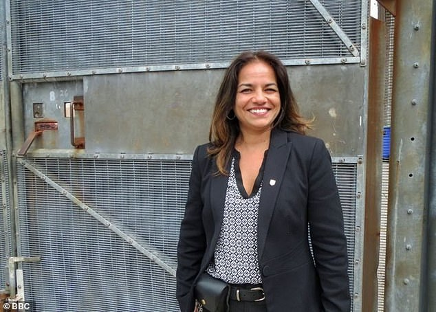 Pia Sinha (pictured above) introduced floral displays, a soccer field and even a park at HMP Liverpool, after inspectors condemned the prison.