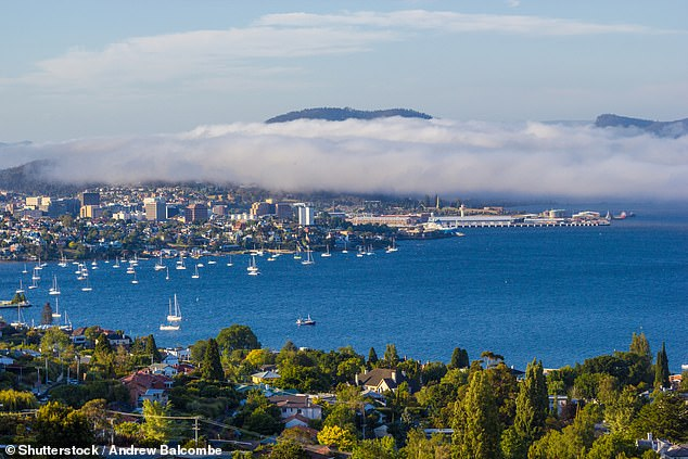 Life costs skyrocketed in Hobart (pictured) with average weekly rentals that increased 23.2 percent in the year to January 2020, by far the largest increase, in a city with an unemployment rate of only 0.6 percent