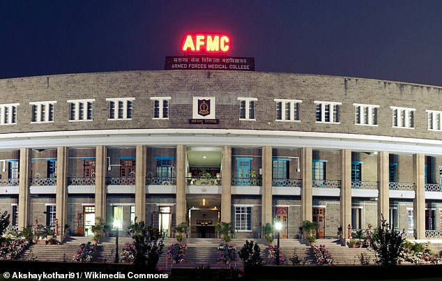 Doctors at the Armed Forces Medical College in the city of Pune, India (pictured) reported the case of the young girl in a medical journal. They said they would have to carry out surgery to repair the birth defect