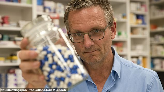 Dr Michael Mosley (pictured) managed to buy eight boxes of codeine from high street pharmacies in south London without a prescription. Just two of the seven pharmacies he visited asked him the questions pharmacists are supposed to ask before giving out the drugs