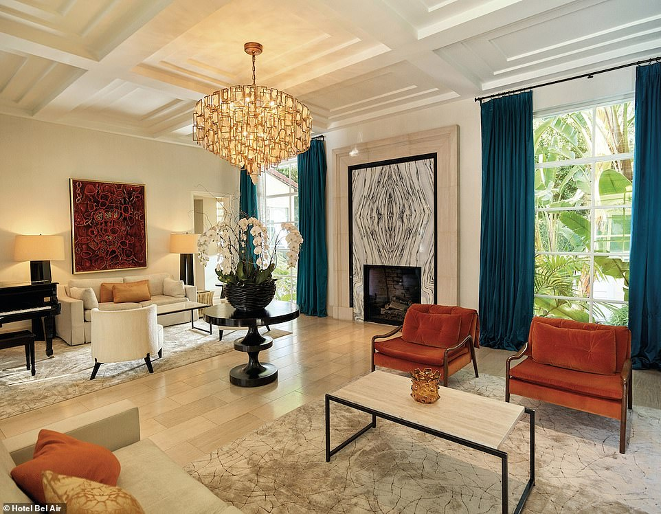 The Presidential Suite at Hotel Bel-Air in Los Angeles is described as having a 'classic-yet-modern California-style design'. It boasts a 'private Spanish-inspired courtyard enclosed by towering trees and plants'. Stays are $15,000 (£11,500) per night