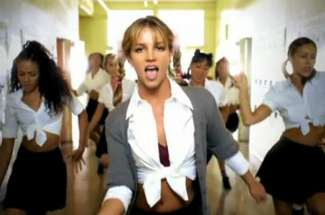 Something wasn't right here! They were even shown one of the most iconic images of Britney, from her 1998 music video for...Baby One More Time