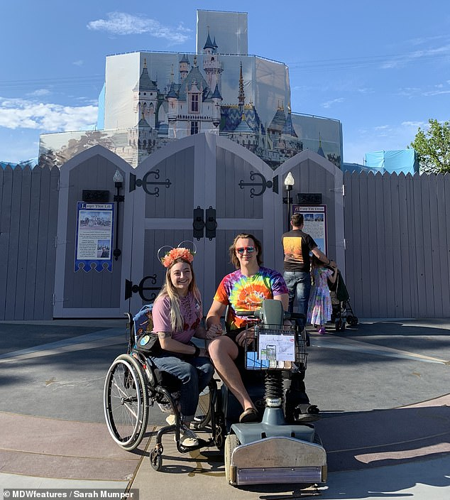 The pair also ventured to one of Sarah's favorite places, Disney, together
