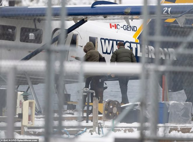 This is the Duchess of Sussex's first sighting since news of 'Megxit' broke last week. She was seen boarding a small seaplane from Victoria Harbour Airport to the mainland