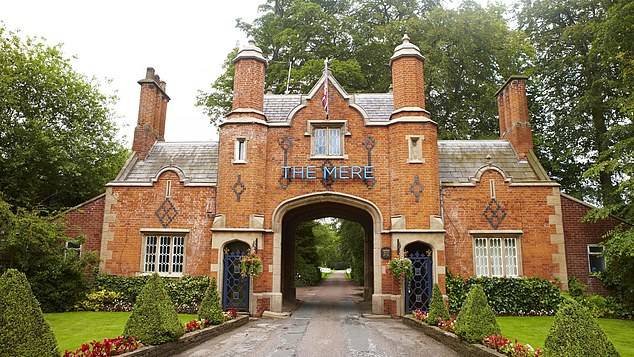 The women are believed to have been hosted at the The Mere Golf Resort in Knutsford (above)