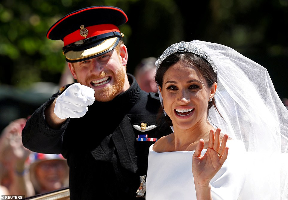 Meghan and Prince Harry on their wedding day in St George's Chapel in Windsor Castle on May 19th 2018