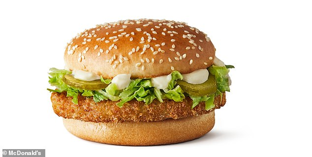 Pictured: Promotional picture for the new McVeggie burger available at McDonalds