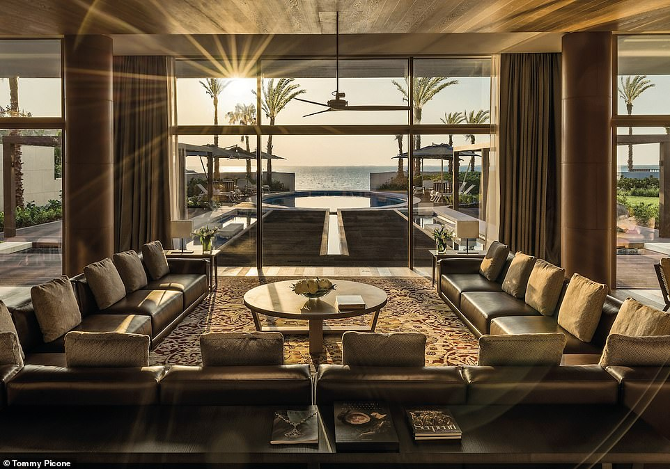 The 5,382-square-foot Bulgari Villa at The Bulgari Hotel, Dubai, has three bedrooms, a home cinema and ahammam. Outside there arepristine gardens, a terrace and an oval pool with views of the sea. A one night stay starts from $3,300 (£2,500)