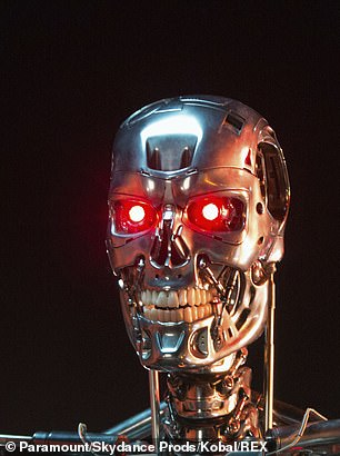 Mr Spence currently has two of the special prosthetics which can light up in red when activated by a small magnet ¿ one which looks realistic and another that looks somewhat like the eyes of a Terminator (pictured)