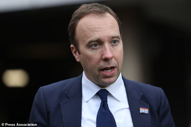 Health Secretary Matt Hancock said 'targets have to be clinically appropriate', and suggested the four-hour A&E wait standard might be scrapped in favour of basing visits on priority