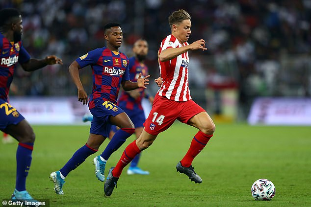 Manchester United are reportedly looking for a loan move for Atletico Madrid's Marcos Llorente