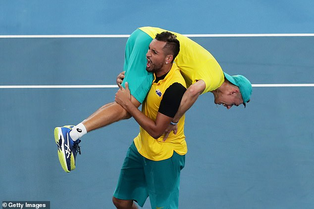 Nick Kyrgios looks comfortable playing at home in Australia and could surprise his critics