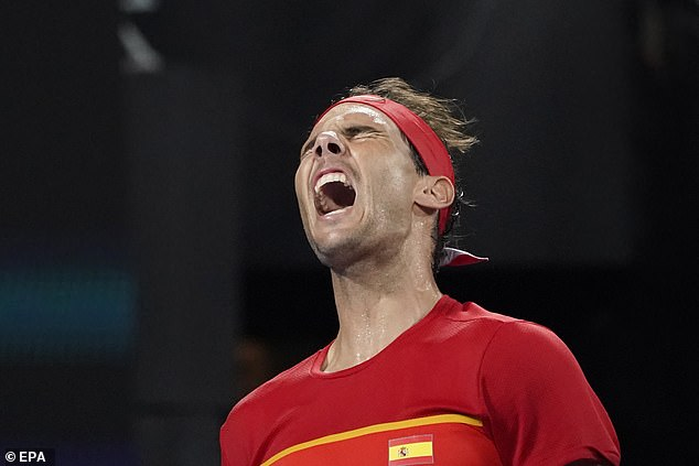 Rafael Nadal shouted out in rage as he was beaten in the final of the ATP Cup earlier this month