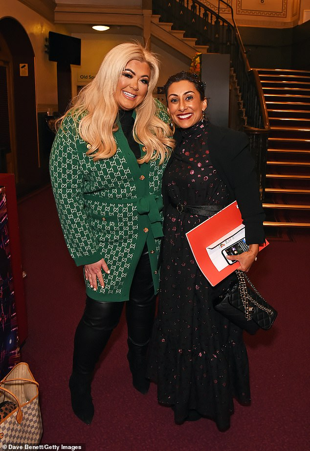 Friends: Gemma posed for a snapshot with Loose Women's co-host Saira Khan.