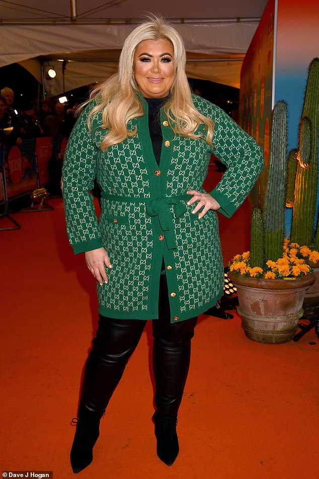 Event: Gemma Collins, 38, cut an elegant figure while attending a presentation by Luzia del Cirque du Soleil, held at the Royal Albert Hall in London on Wednesday.