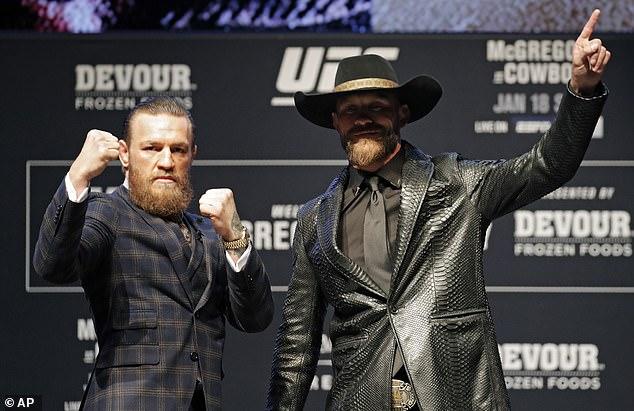 McGregor and Cerrone are preparing to fight at UFC 246 in Las Vegas on Saturday night