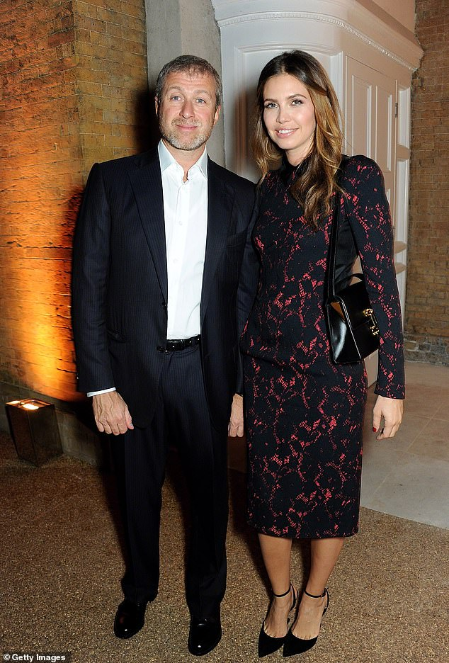 Ex: Dasha was married to Chelsea owner Roman Abramovich, 53, for almost 10 years before ending their relationship with a divorce of several million pounds in 2017 (pictured in 2013)