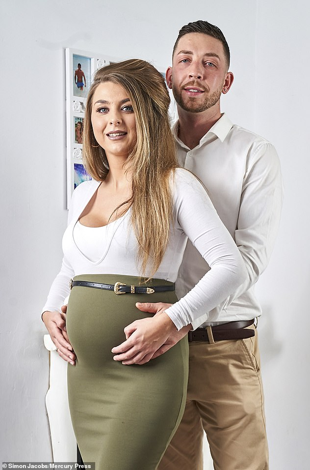 Ms Guinness and her partner, Anthony Latta, 31, fell pregnant within eight months after a life-changing operation Ms Guinness begged the NHS to perform