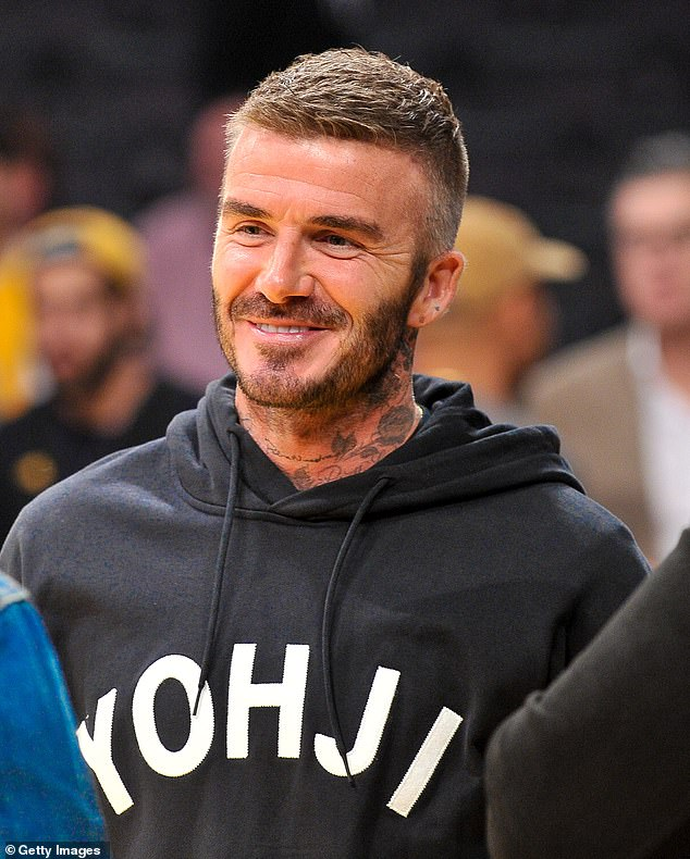 Starred: David Beckham is expected (pictured in October), who is believed to have attended the Paris ceremony